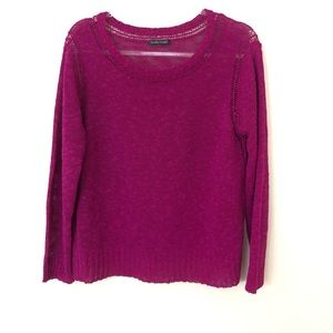 Eileen Fisher Fuchsia Knit Sweater Size L